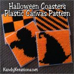 Halloween Coasters Plastic Canvas Pattern | Diy Party Mom   Free Printable Plastic Canvas Patterns