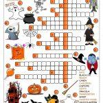 Halloween   Crossword Worksheet   Free Esl Printable Worksheets Made   Free Printable French Halloween Worksheets