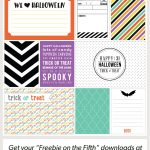 Halloween Journaling + Filler Cards   Free Printable Halloween Cards