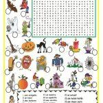 Halloween Mots Cachés   Fle   Halloween Worksheets, French   Free Printable French Halloween Worksheets