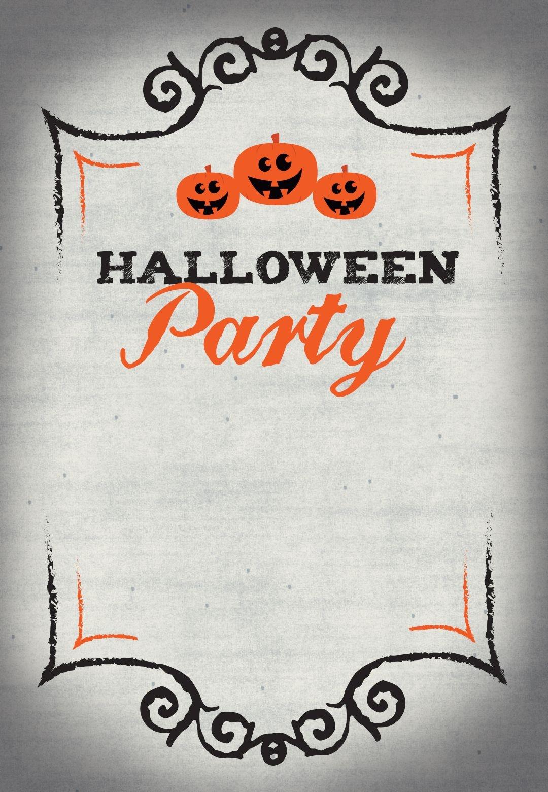 Halloween Party - Free Printable Halloween Invitation Template - Halloween Party Invitation Templates Free Printable