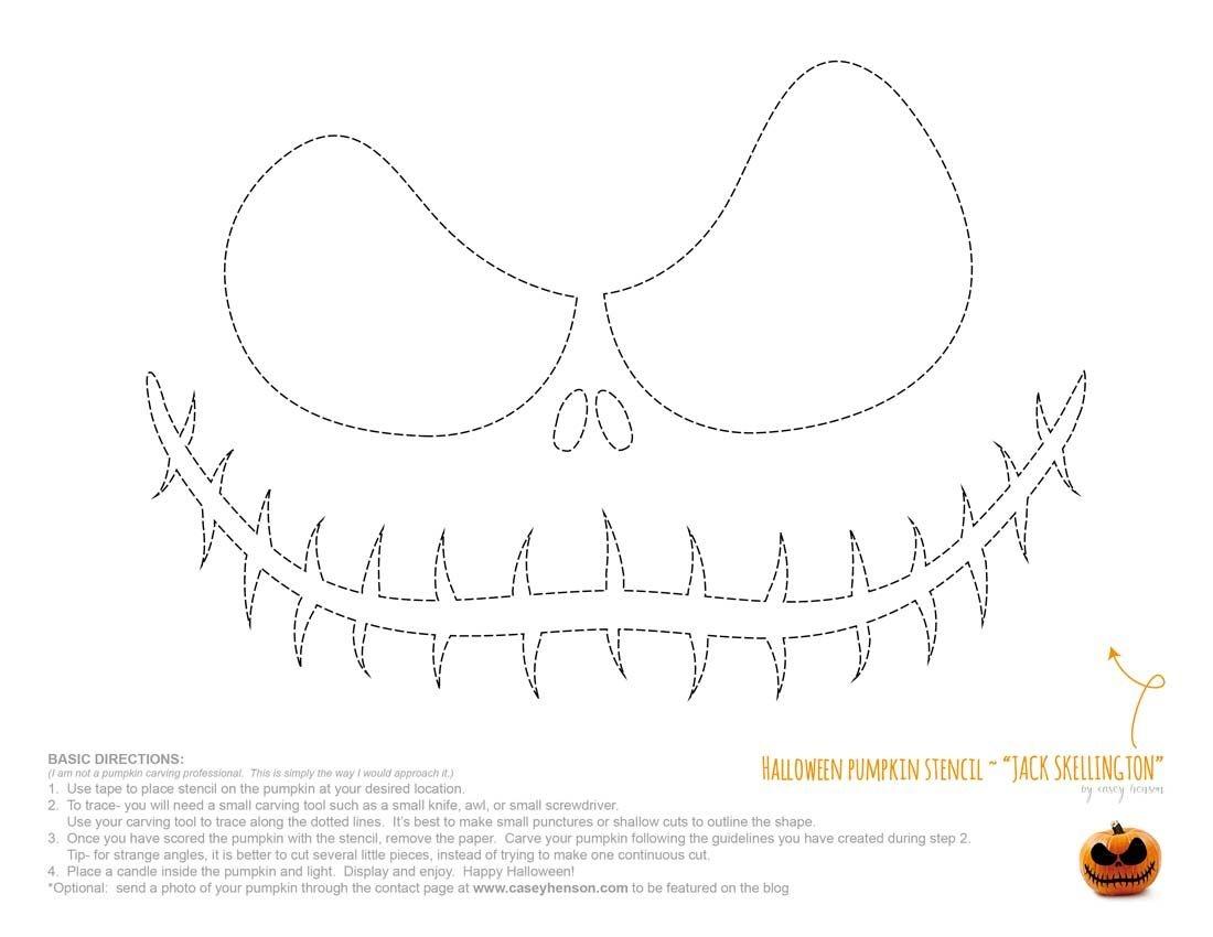 Halloween Pumpkin Carving Stencils: The Nightmare Before Christmas - Jack Skellington And Sally Pumpkin Stencils Free Printable