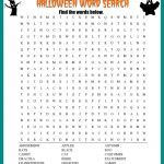 Halloween Word Search Printable Worksheet   Free Printable Word Searches For Adults