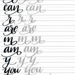 Hand Lettering: Flourish Tutorial & Free Printable Practice Pages   Modern Calligraphy Practice Sheets Printable Free