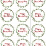 Hand Painted Gift Tags Free Printable | Christmas | Christmas Gift   Free Printable Customizable Gift Tags