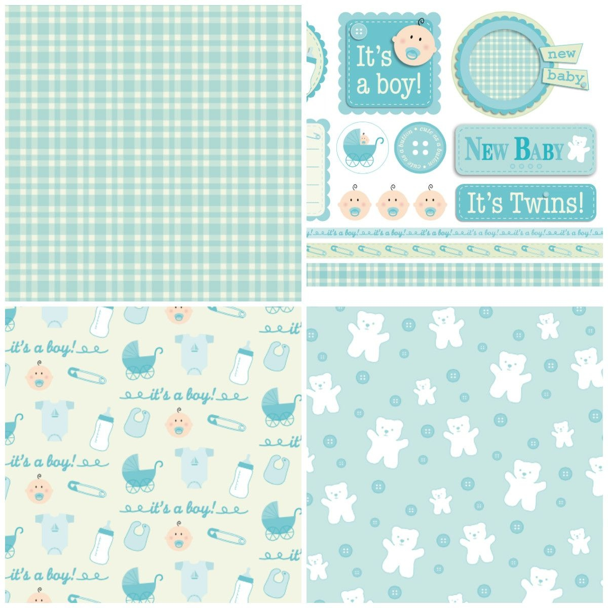 Handmade For Babies – Free Papers | Printable Papers | Digital Paper - Baby Scrapbook Templates Free Printable