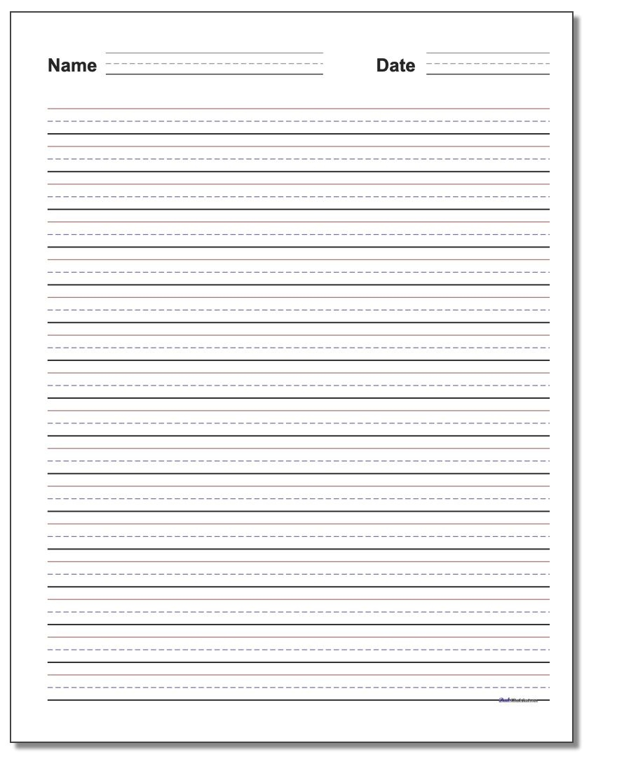 Handwriting Paper - Free Printable Writing Paper With Picture Box