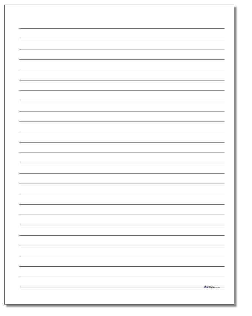 Handwriting Paper - Writing Borders Free Printable