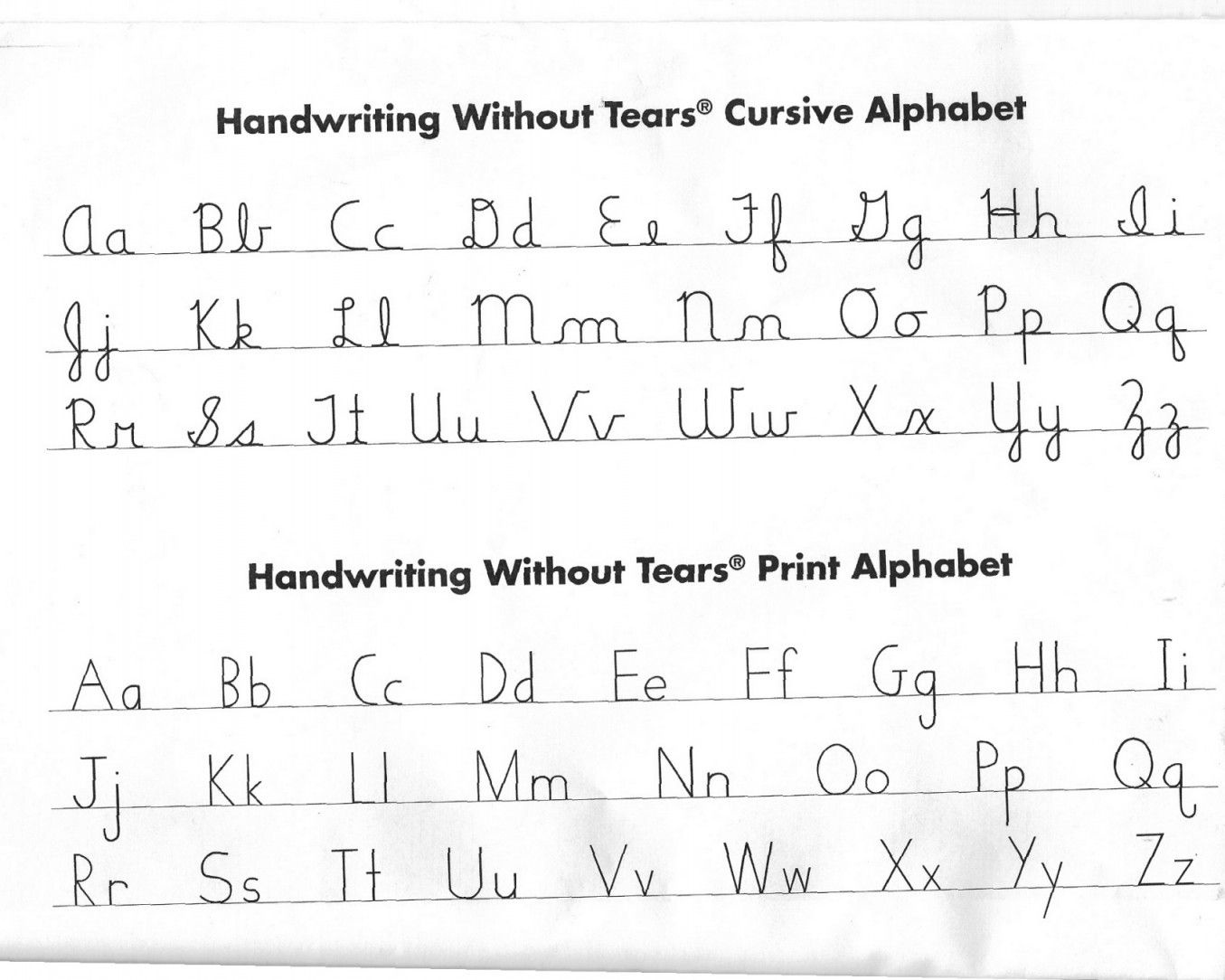 Handwriting Without Tears Worksheets   Lobo Black - Handwriting Without Tears Worksheets Free Printable