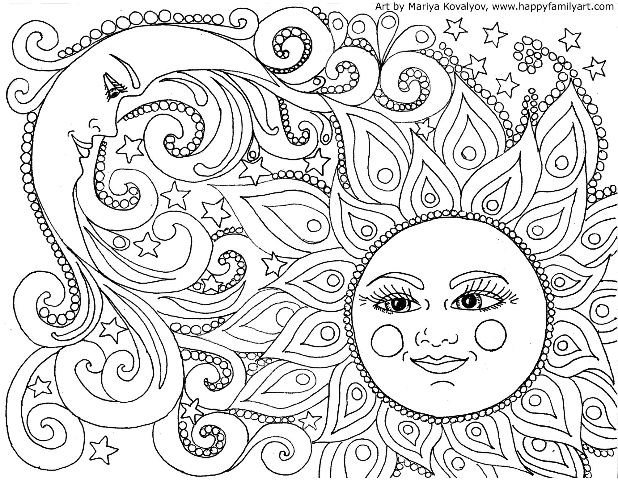 Happy Family Art - Original And Fun Coloring Pages - Free Printable Coloring Pages