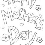 Happy Mother's Day Doodle Coloring Page   Free Printable Coloring   Free Printable Mothers Day Coloring Cards