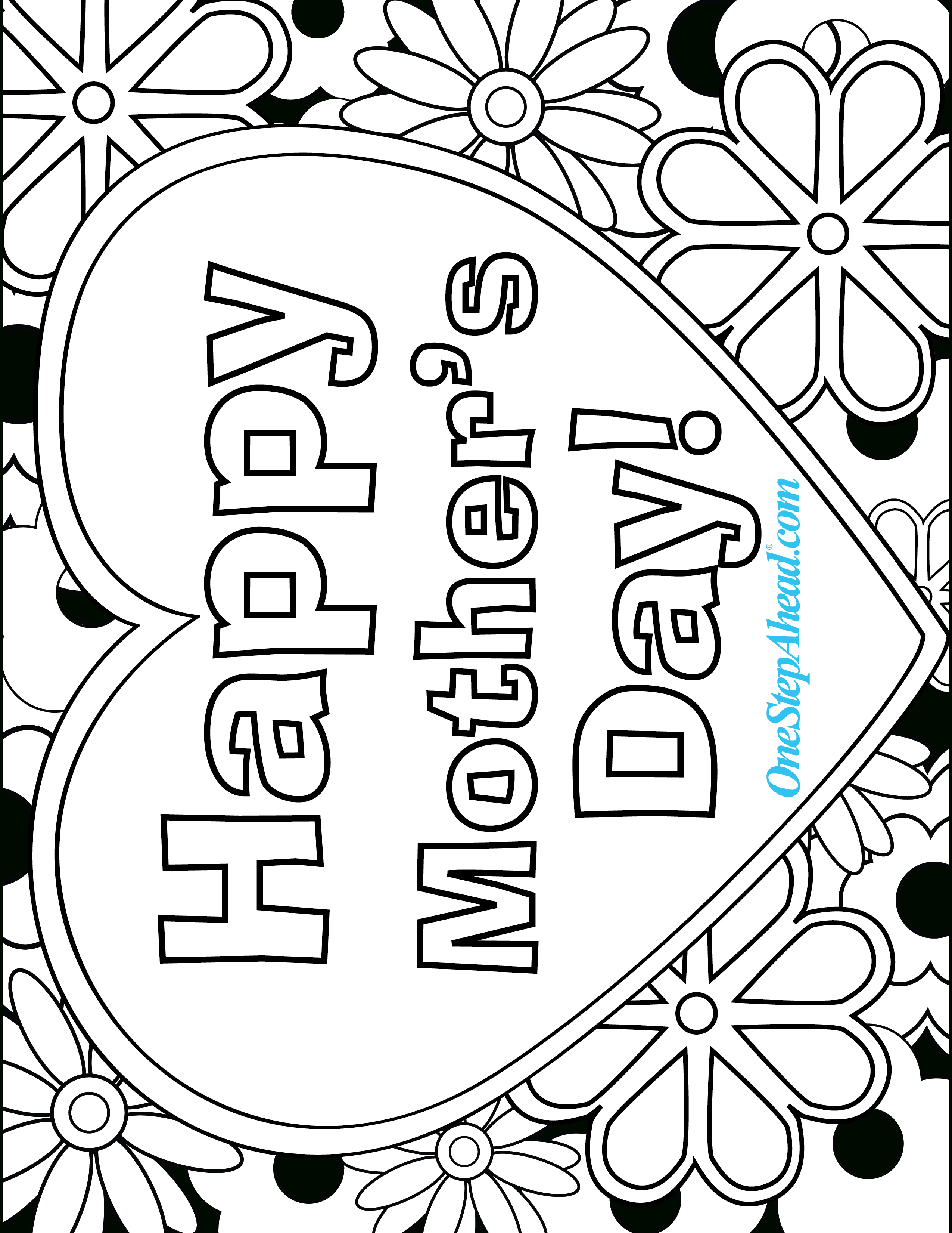 Happy Mother's Day Free Coloring Page Printable For Kids! | Mother's - Free Printable Mothers Day Cards Blue Mountain