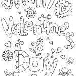 Happy Valentine's Day Coloring Page   Free Printable Coloring Pages - Free Printable Valentines Day Coloring Pages