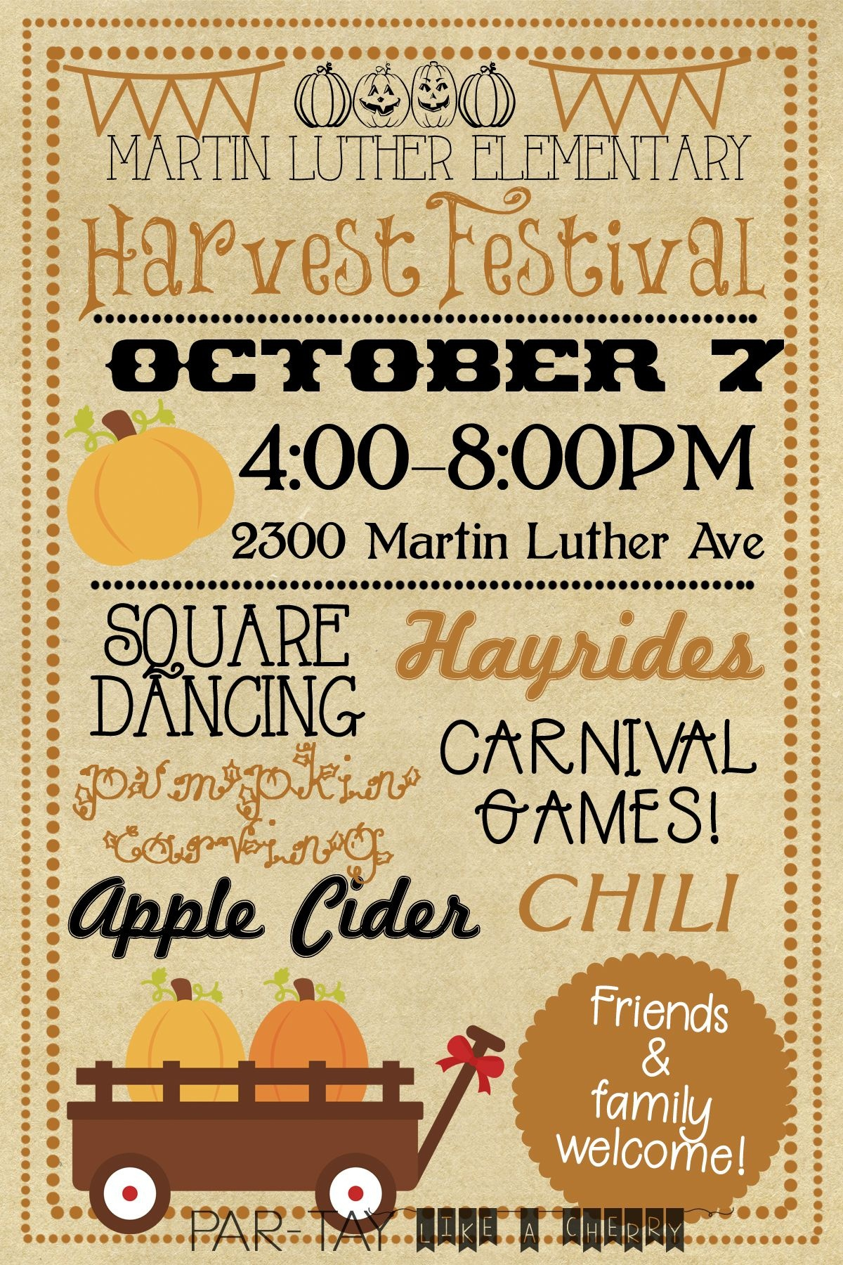 Harvest Festival Invitation | Fall Birthday Party | Fall Party - Free Printable Fall Festival Flyer Templates