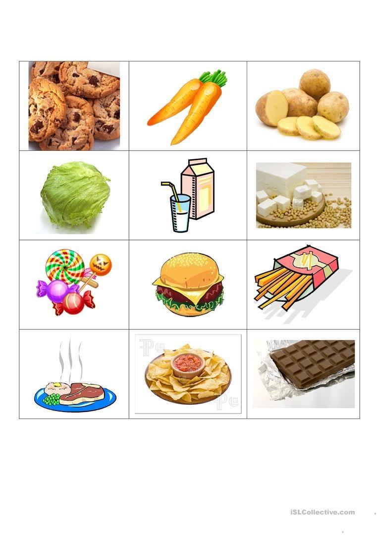 Healthy And Junk Food Worksheet - Free Esl Printable Worksheets Made - Free Printable Healthy Eating Worksheets