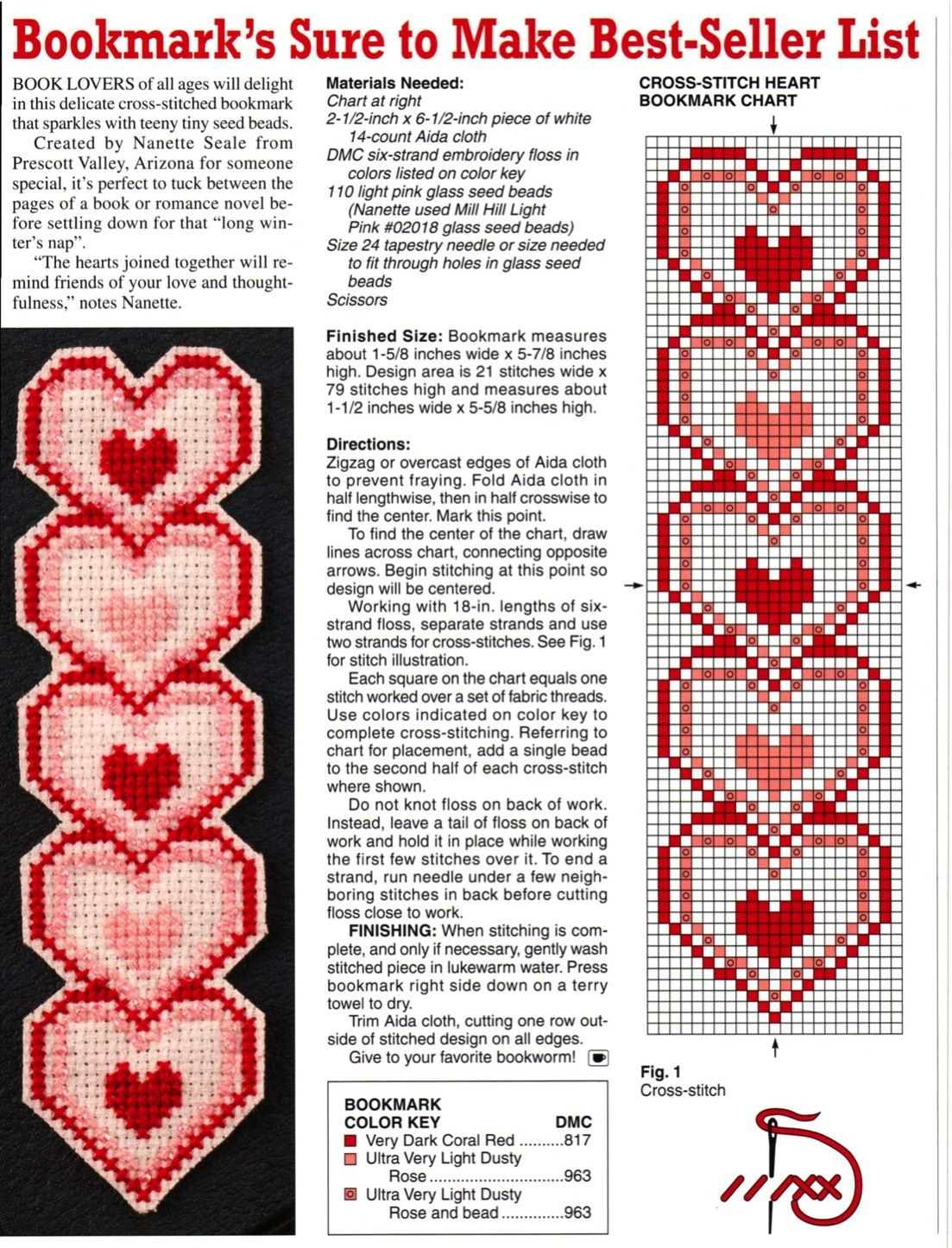 Heart Plastic Canvas Bookmark | Plastic Canvas Crafts | Plastic - Free Printable Plastic Canvas Patterns Bookmarks