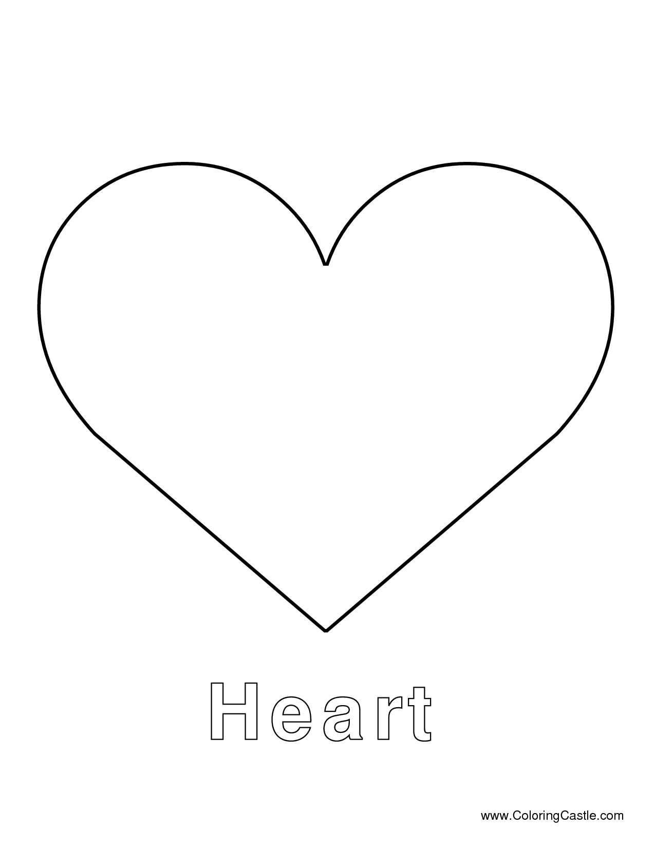 Heart Template- To Cut Out A Perfect Heart Or To Put Names In - Free Printable Heart Templates