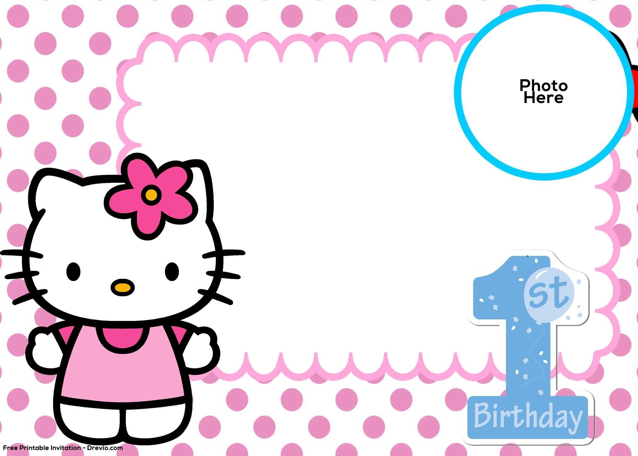 Hello Kitty Birthday Invitation Template - Kaza.psstech.co - Hello Kitty Free Printable Invitations For Birthday