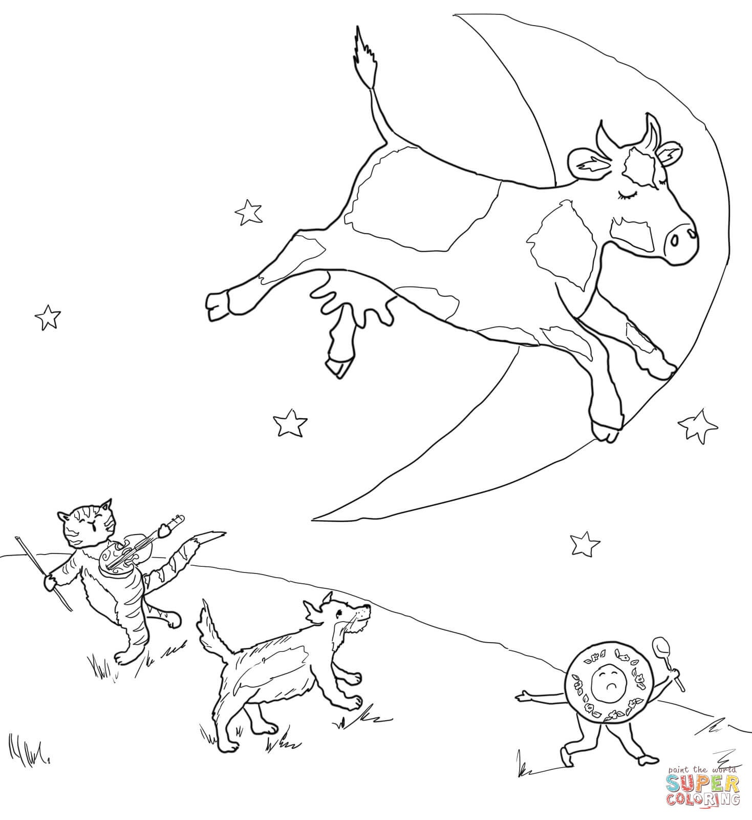 Hey Diddle Diddle Coloring Page | Free Printable Coloring Pages - Free Printable Nursery Rhyme Coloring Pages