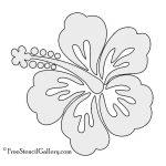 Hibiscus Flower Stencil | Free Stencil Gallery | Stencils | Free   Free Printable Flower Stencils