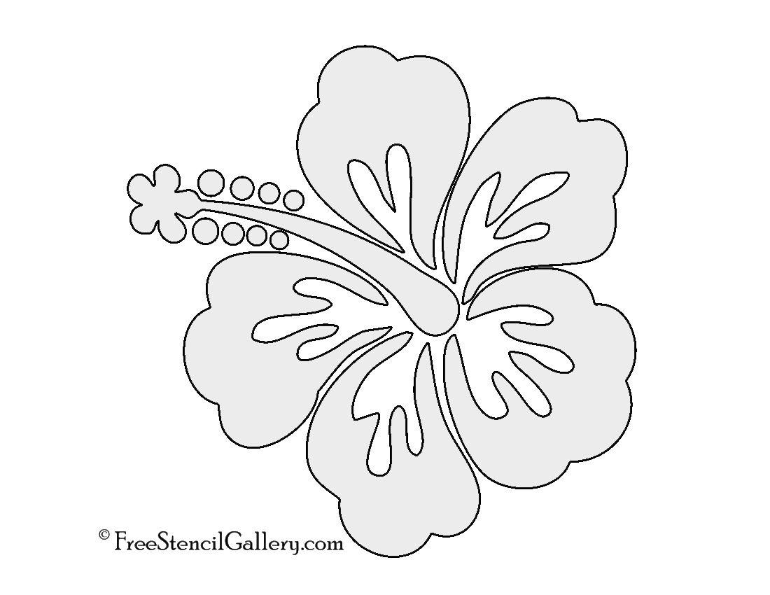 Hibiscus Flower Stencil | Free Stencil Gallery | Stencils | Free - Free Printable Flower Stencils