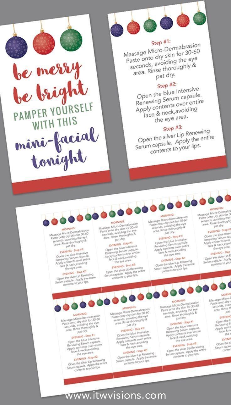 Holiday Mini-Facial Card - Instant Download | Designs | Rodan + - Rodan And Fields Mini Facial Instructions Printable Free