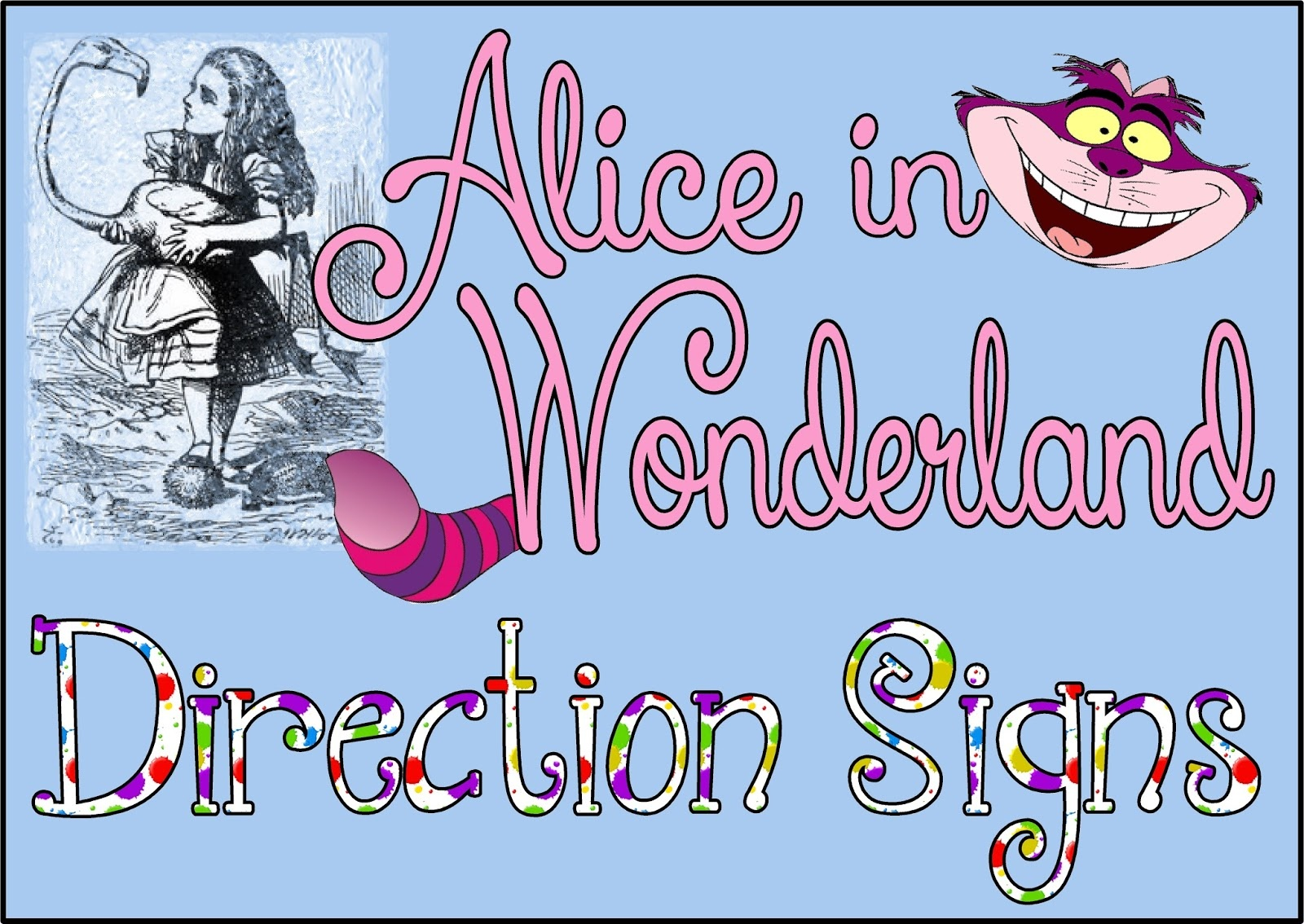 Hollyshome Family Life: Alice In Wonderland, Mad Hatter Party Free - Alice In Wonderland Signs Free Printable