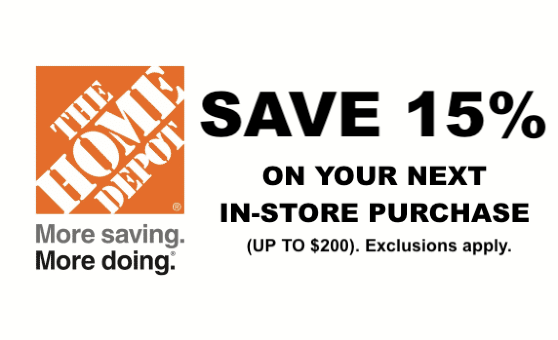 Home Depot 15% Off Printable Coupon Delivered Instantly To Your - Free Printable Home Depot Coupons