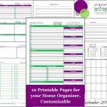 Home Organization Printables | Home Organizer- Free Printable | All - Free Printable Home Organizer Notebook