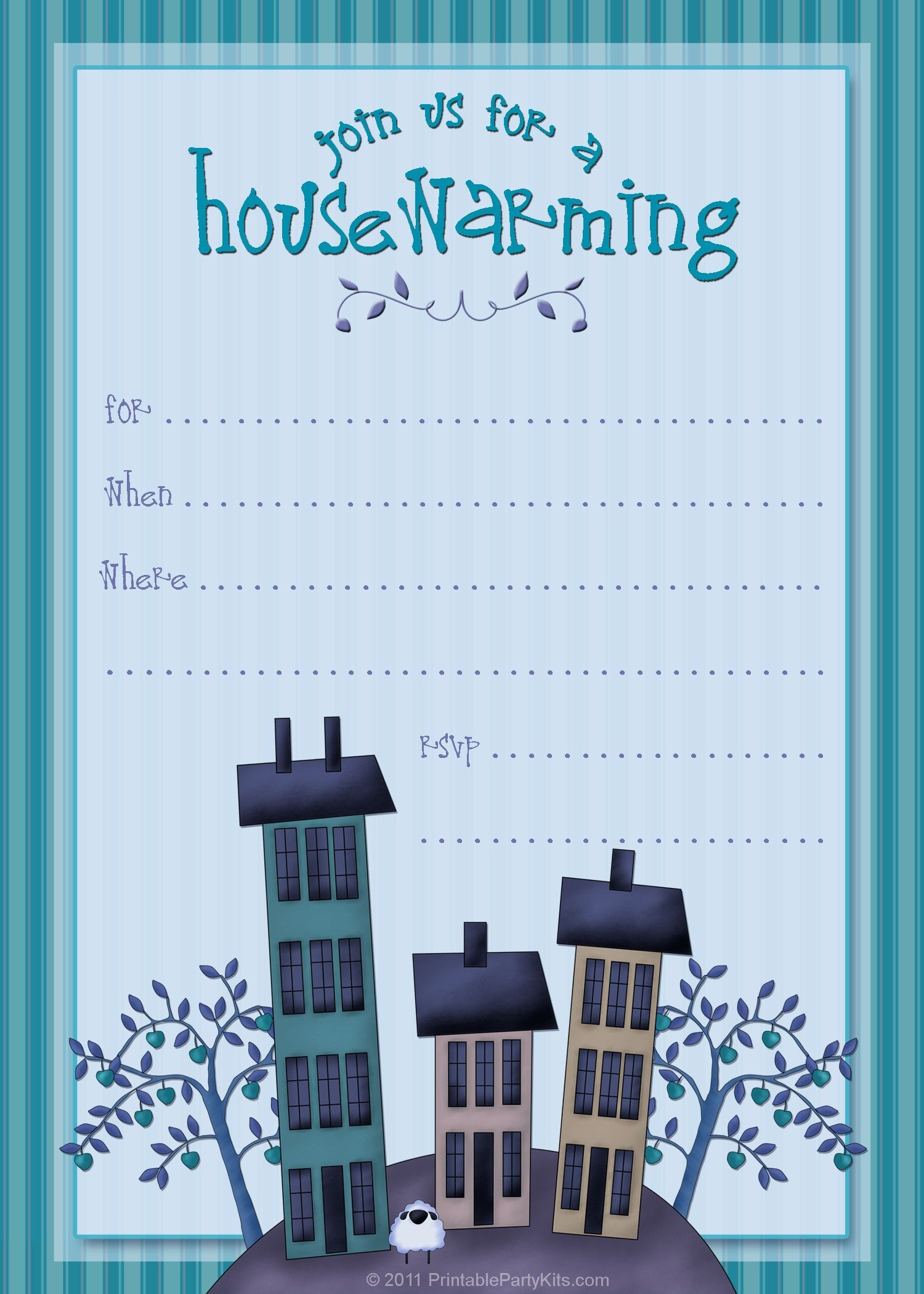 Housewarming Invite Template | Tanveer | Housewarming Party - Free Printable Housewarming Invitations Cards