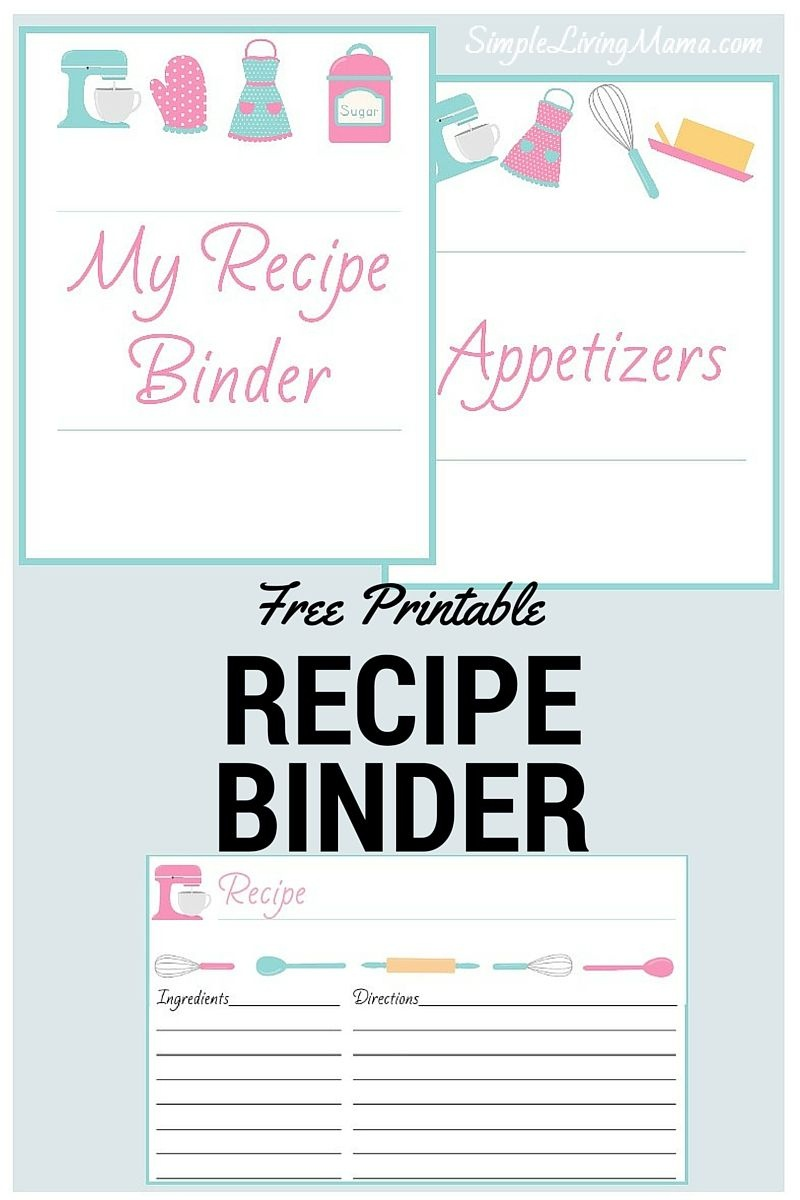 How To Create A Family Recipe Book - Passing Down Traditions - Free Printable Recipe Book Pages