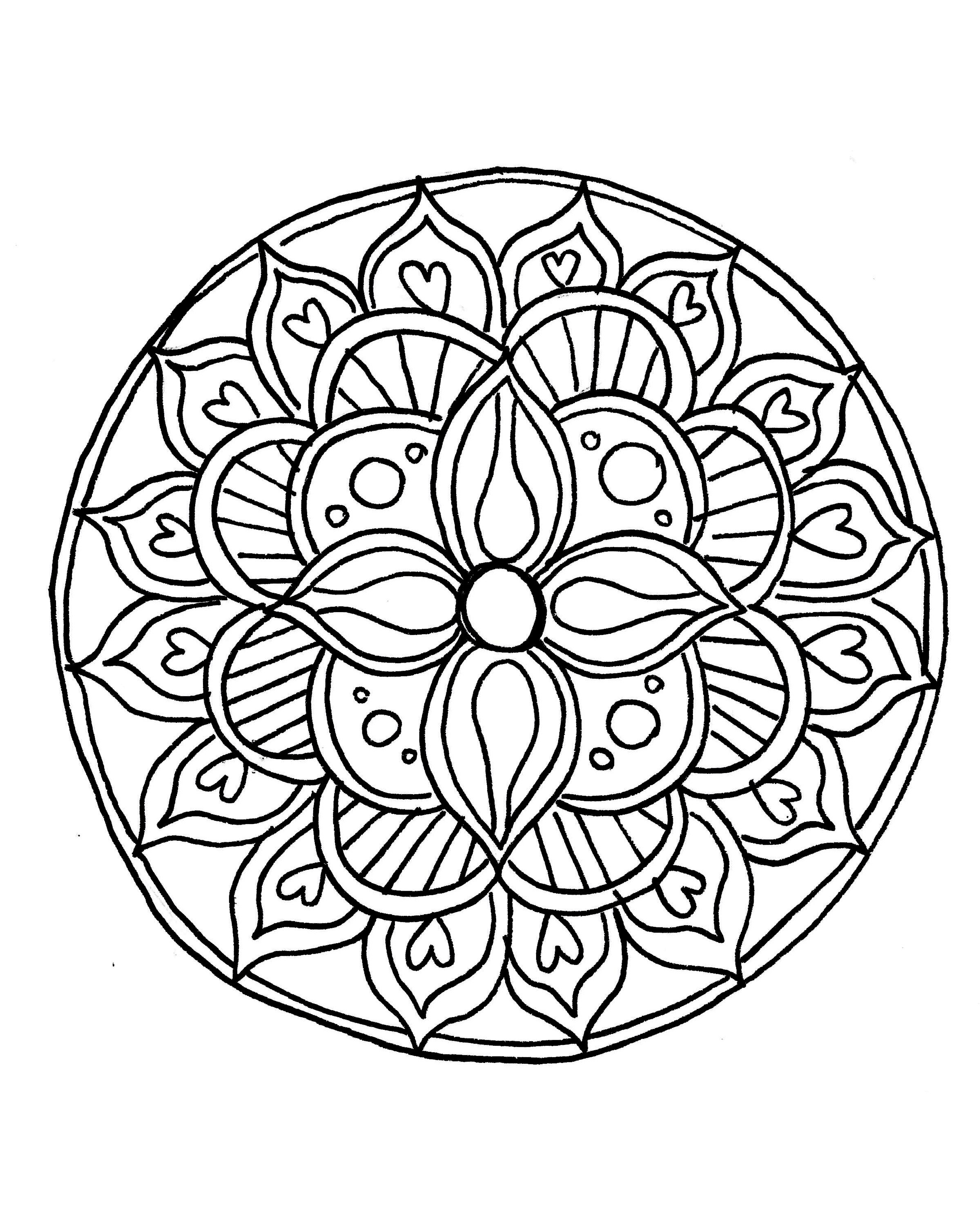 How To Draw A Mandala (With Free Coloring Pages!) | Drawings - Free Printable Mandala Patterns