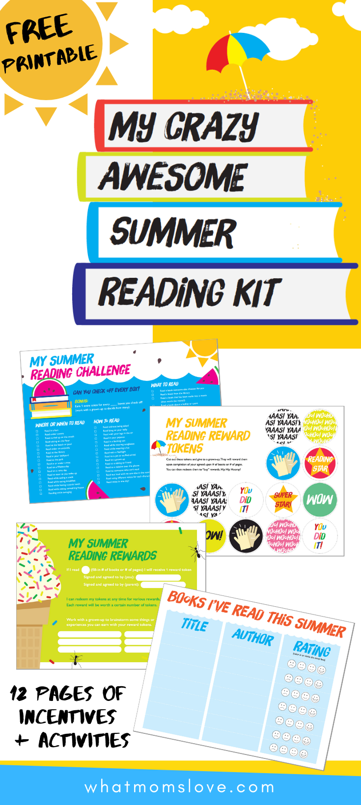 How To Get Your Kids To Read This Summer (With Free Printable Summer - Free Printable Kindergarten Level Books