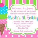 Ice Cream Birthday Party Invitations Pink Green In 2019 | Party - Ice Cream Party Invitations Printable Free
