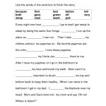 Image Result For Free Cloze Reading Passages 2Nd Grade | Printables   Free Printable Science Worksheets For 2Nd Grade