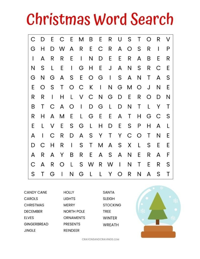 Image Result For Free Printable Christmas Word Search | Seasons - Free Printable Christmas Word Search