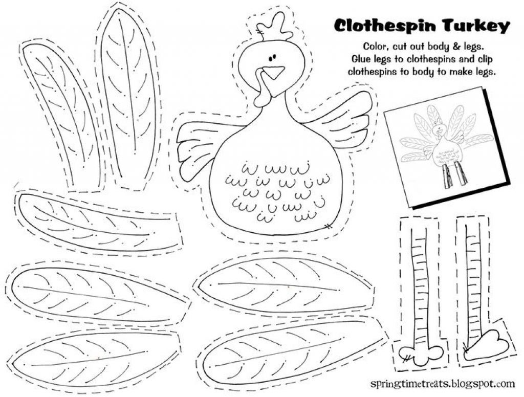 Imgenes De Free Printable Thanksgiving Crafts For Kindergarten - Free Printable Crafts