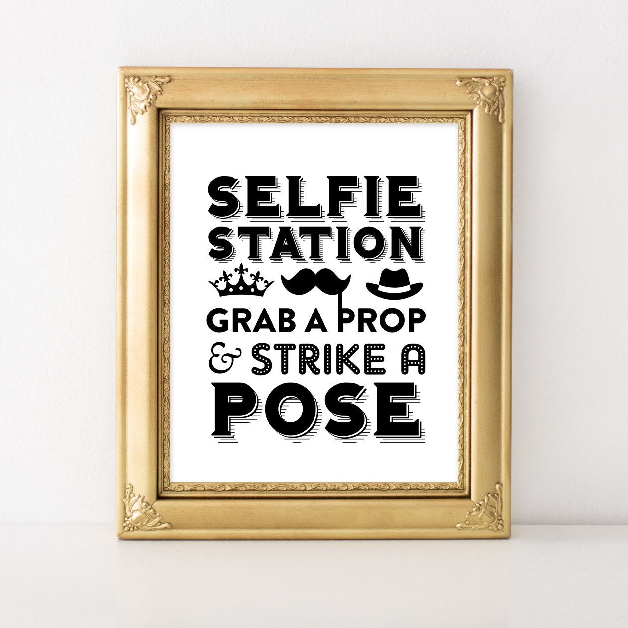 Instant Download Selfie Station Sign / Wedding Photobooth Sign - Selfie Station Free Printable