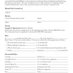 Interesting Room Rental Lease Agreement Form Template With Unit   Free Printable Roommate Rental Agreement