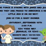 Jedi Star Wars Theme Inspired Baby Shower Invitation With | Etsy   Free Printable Star Wars Baby Shower Invites