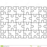 Jigsaw Puzzle Design Template | Free Puzzle Templates 1300.1390   Puzzle Maker Printable Free