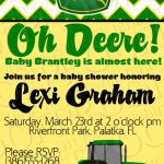 John Deere Baby Shower Invitation Would Be Good For Birthday Invite   Free Printable John Deere Baby Shower Invitations