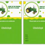 John Deere Free Printable Birthday Party Invitations | Birthday   Free Printable John Deere Baby Shower Invitations