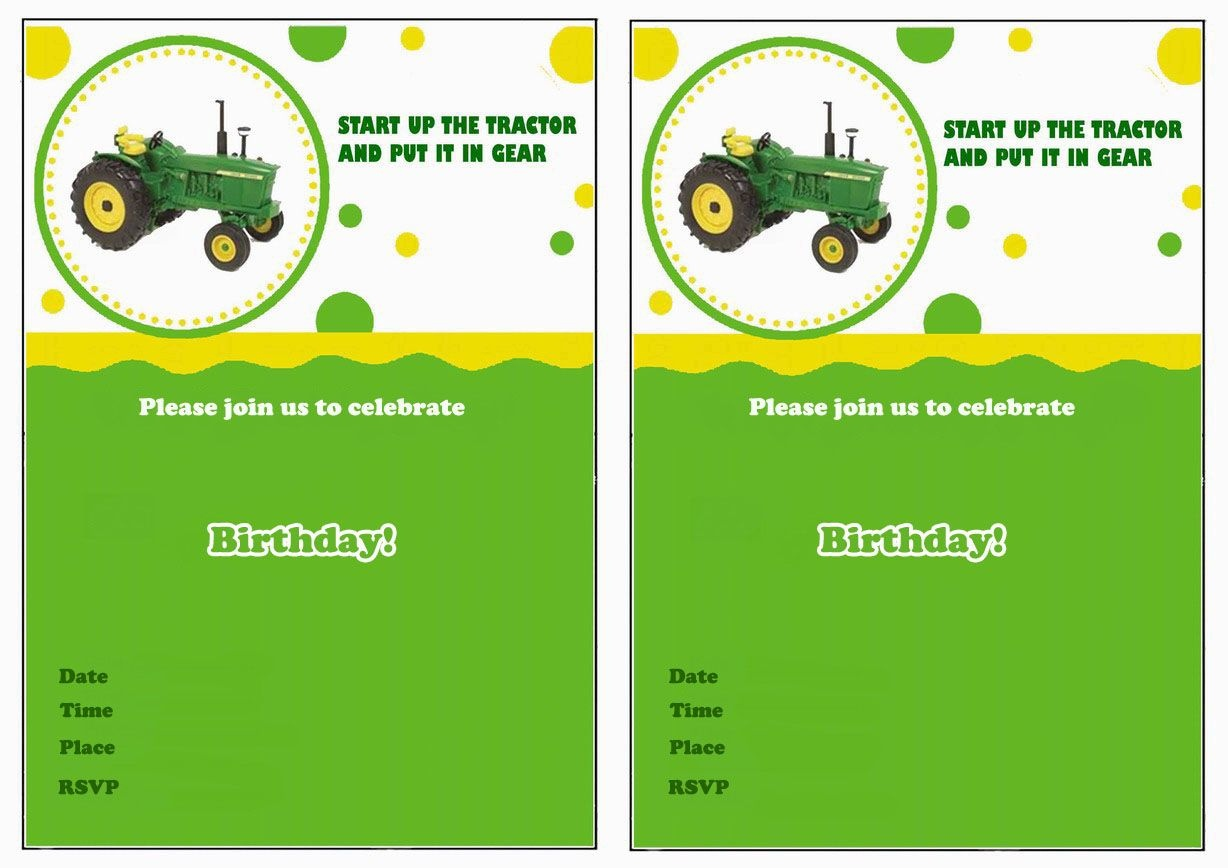 John Deere Free Printable Birthday Party Invitations | Birthday - Free Printable John Deere Baby Shower Invitations