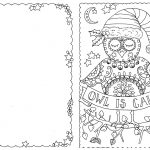 Jolly Christmas Coloring Pages Christmas Day Free Holiday. Do Your – Free Printable Color Your Own Cards