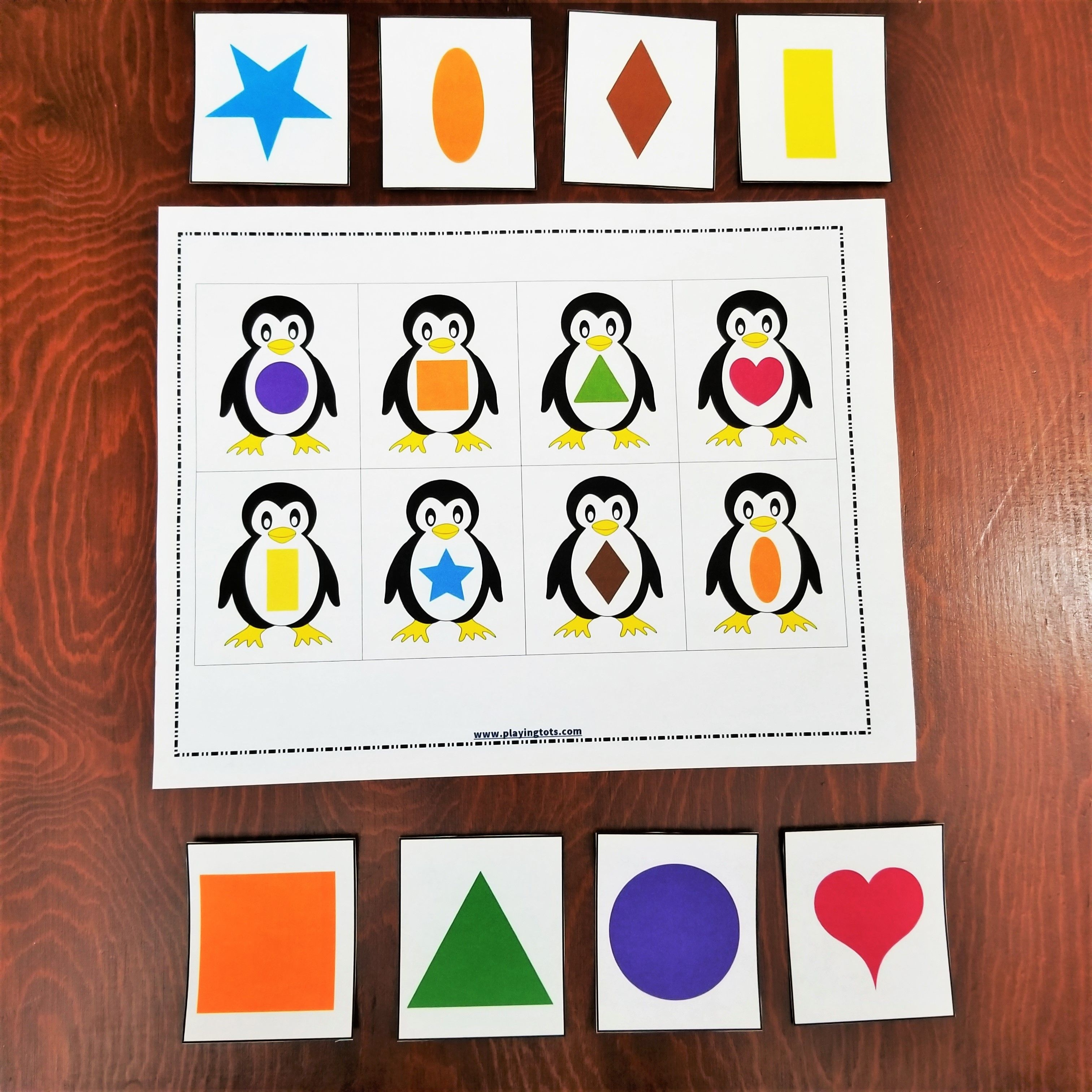 Keywords: Matching,activities,shapes,penguin,animals,toddler,free - Free Printable File Folder Games For Preschool