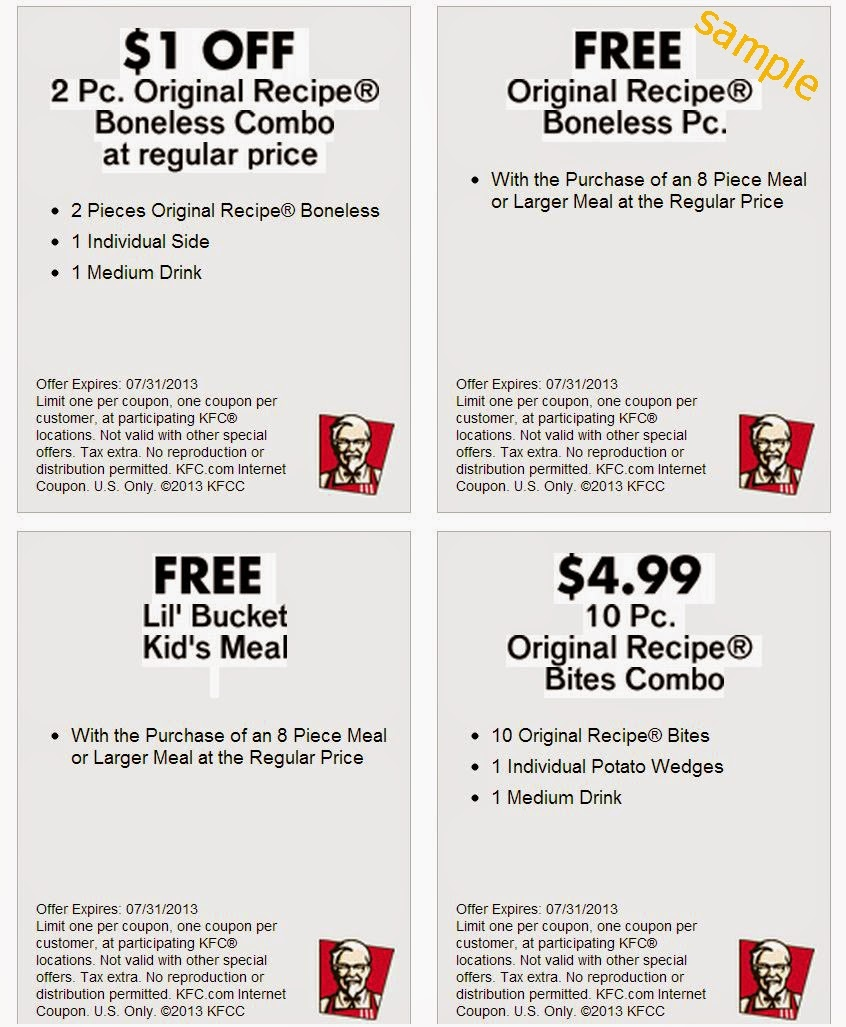 Kfc Canada Printable Coupons November 2018 / Wcco Dining Out Deals - Free Printable Coupons Ontario
