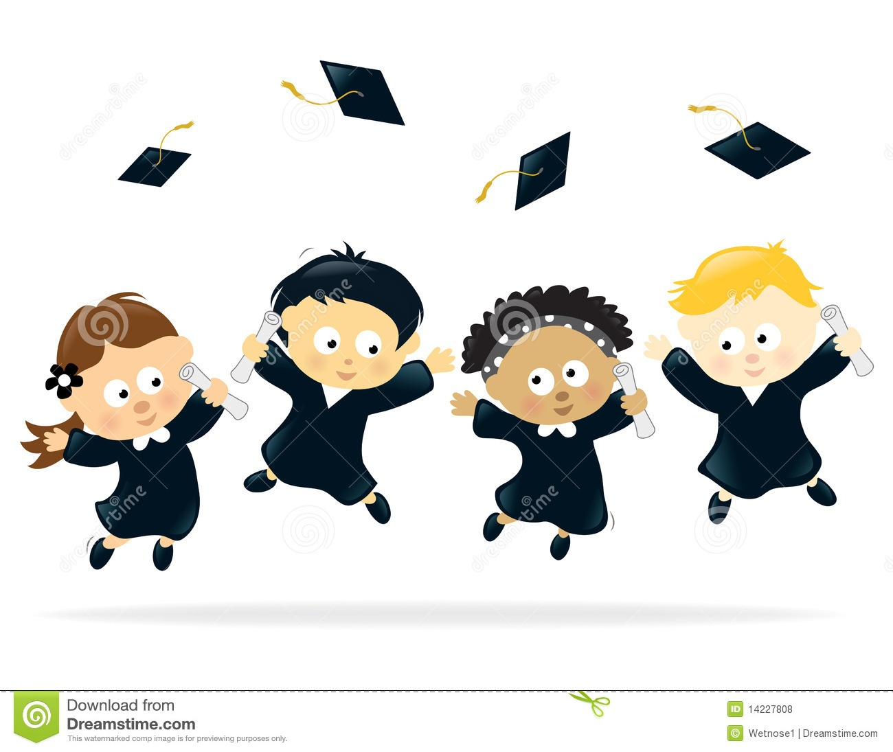 Kids Graduation Clipart | Free Download Best Kids Graduation Clipart - Free Printable Kindergarten Graduation Clipart