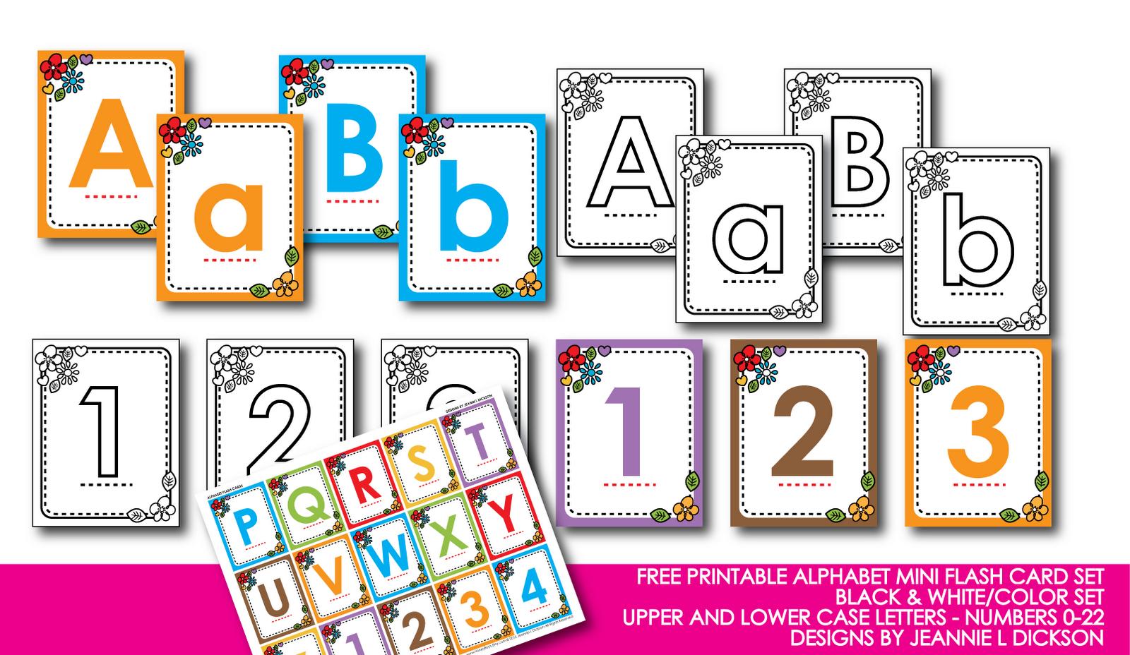 Kindergarten Alphabet Cards | Free Printable Alphabet Mini Flash - Free Printable Alphabet Letters For Display