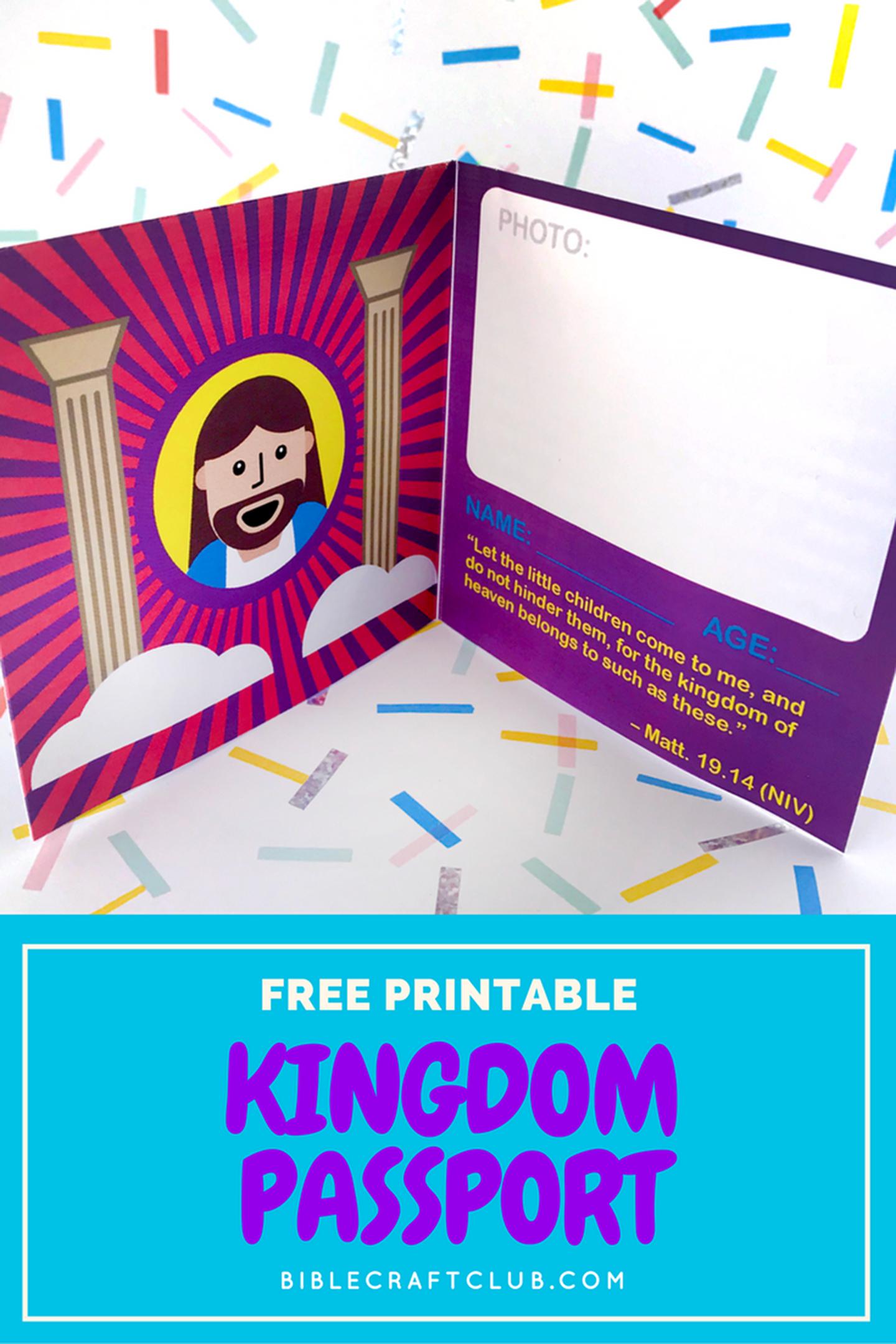 Kingdom Passport Craft | Biblecraftclub | Bible Crafts - Free Printable Bible Crafts For Preschoolers